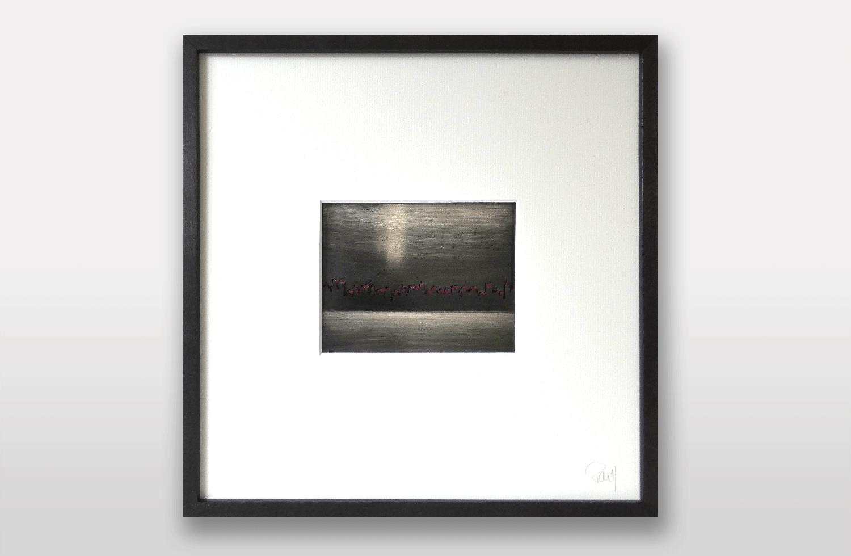 Bild «Skyline» in Silber geschwärzt, 30x30cm