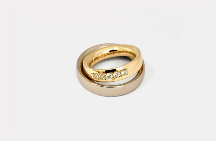 Eheringe in Gold mit Diamanten