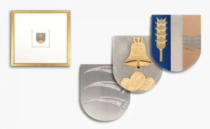 Bilder in Gold und Titan, Rahmen blattvergoldet 31x31cm