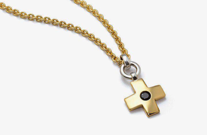Halsschmuck in Gold mit Diamant